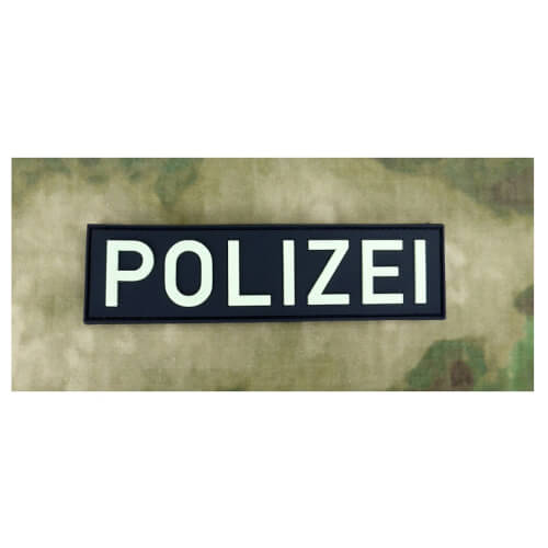 JTG Polizei Schriftzug - Patch gid (glow in the Dark) / 3D Rubber Patch