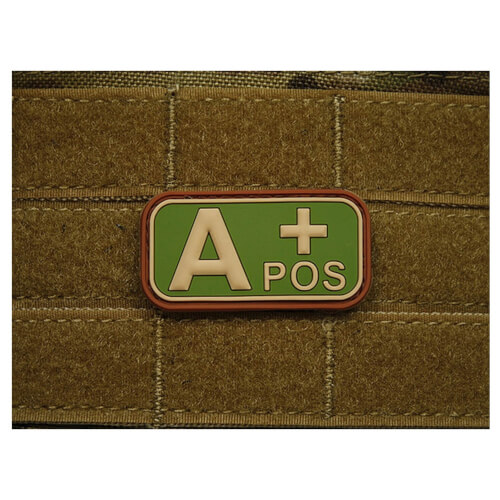 JTG Blutgruppen Bloodtype Patch A POS multicam