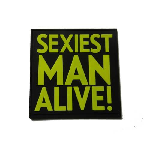 JTG Sexiest Man Alive! PVC Patch - fullcolor