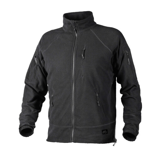 Helikon-Tex Alpha Tactical -Grid Fleece- Jacke Schwarz