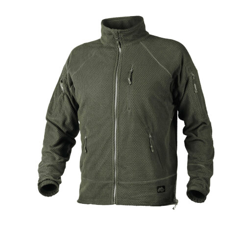 Helikon-Tex Alpha Tactical -Grid Fleece- Jacke Olive Green