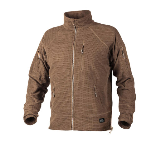 Helikon-Tex Alpha Tactical -Grid Fleece- Jacke Coyote