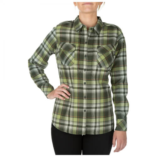 5.11 Tactical HEARTBREAKER FLANNEL SHIRT - SWAMP