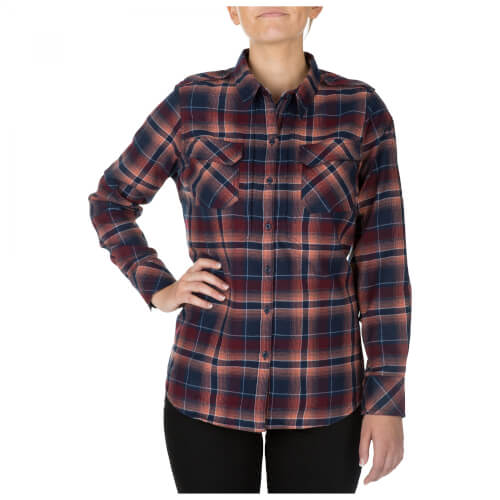 5.11 Tactical HEARTBREAKER FLANNEL SHIRT - CORAL