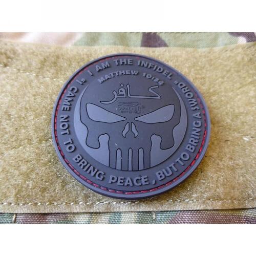 JTG The Infidel Punisher Patch, blackops / 3D Rubber Patch