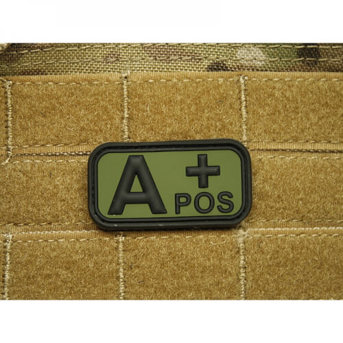 JTG Blutgruppen Patch A POS, forest