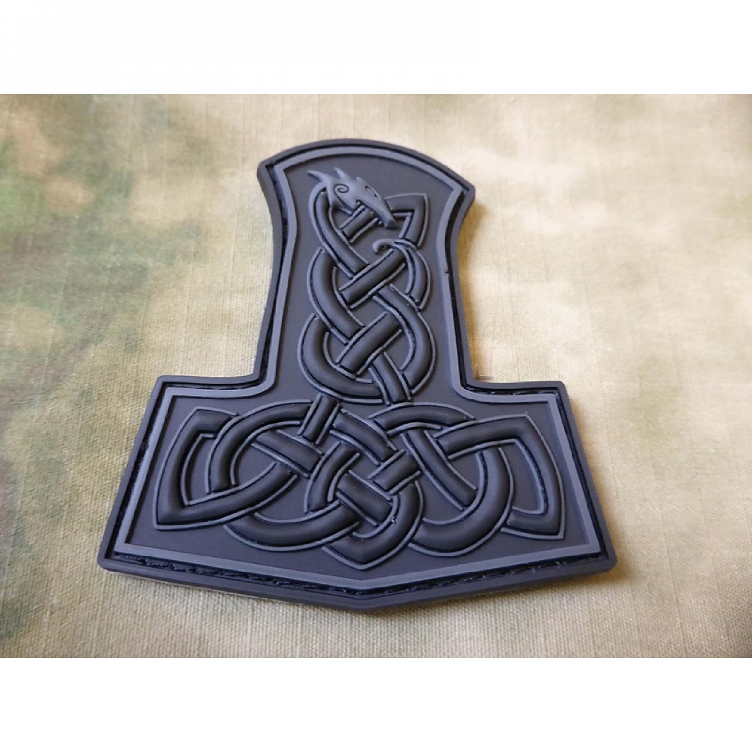 JTG Dragon Thors Hammer Patch, blackops / 3D Rubber patch