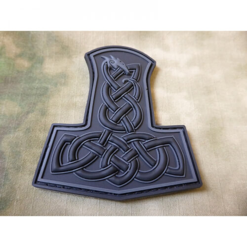 JTG Dragon Thors Hammer Patch, blackops / 3D Rubber patch