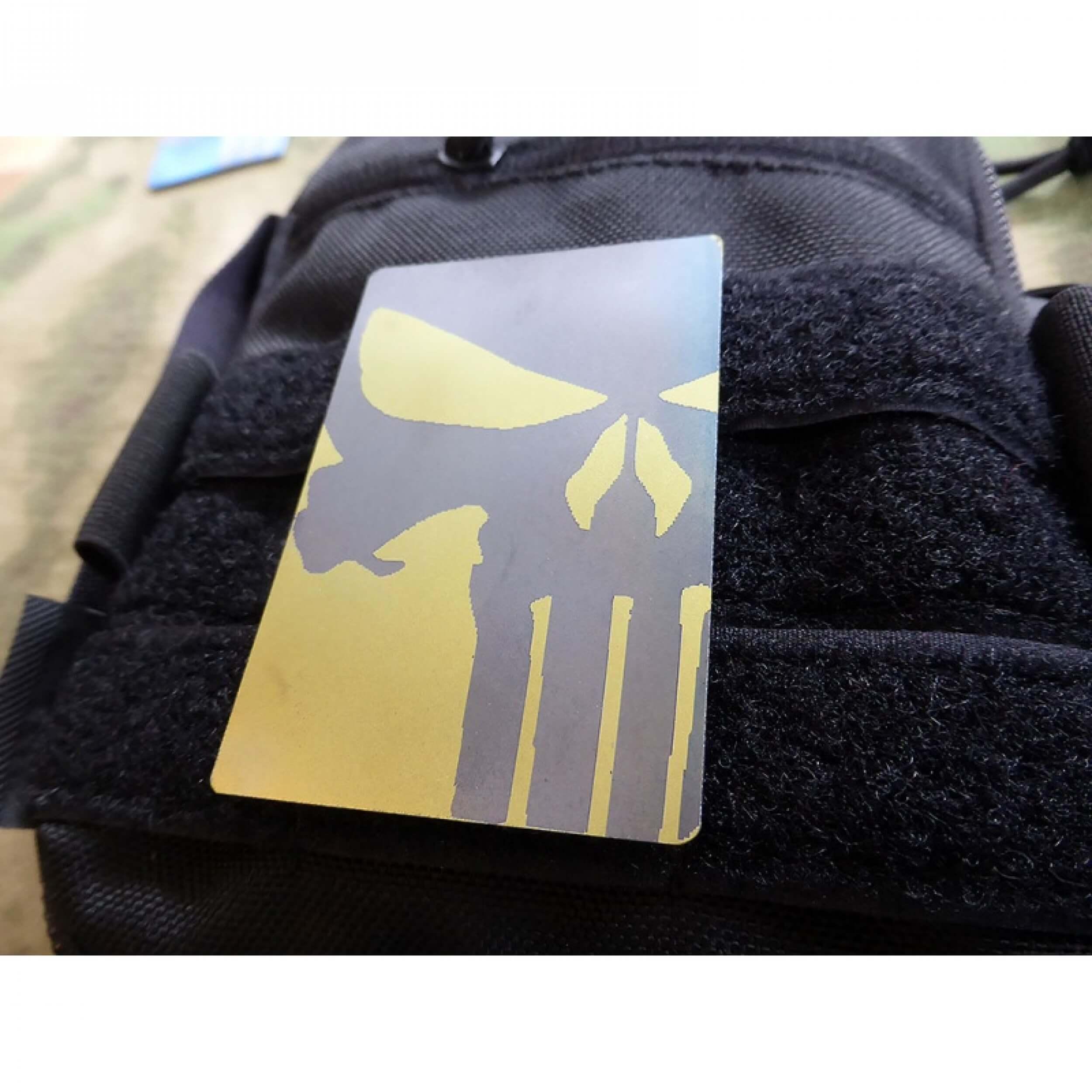 JTG Titanium Punisher Patch, gold