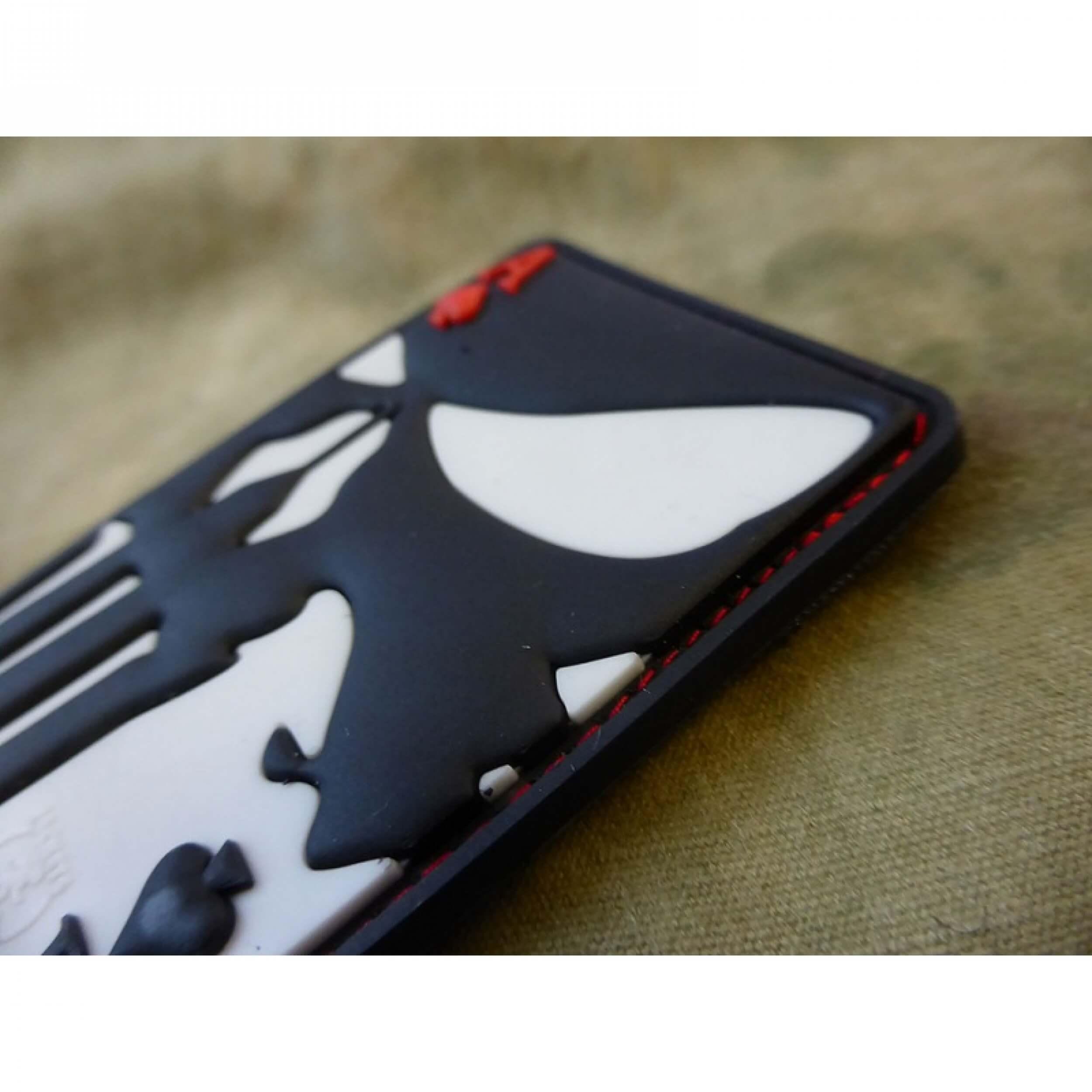 JTG Punisher Ace Of Spades Patch, fullcolor / JTG 3D Rubber Patch