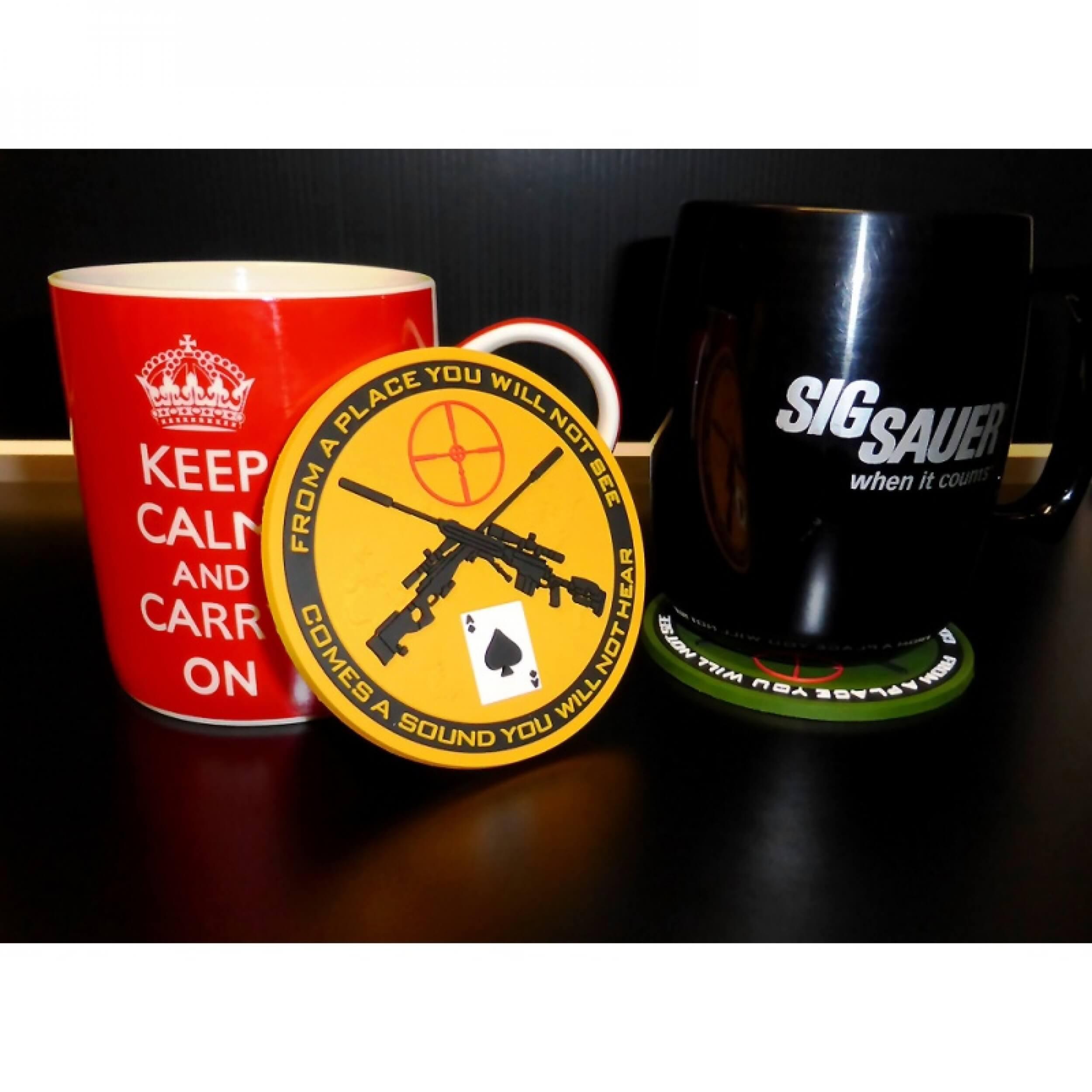 JTG - Sniper Coaster / Untersetzer, blackops / 3D Rubber Bierdeckel