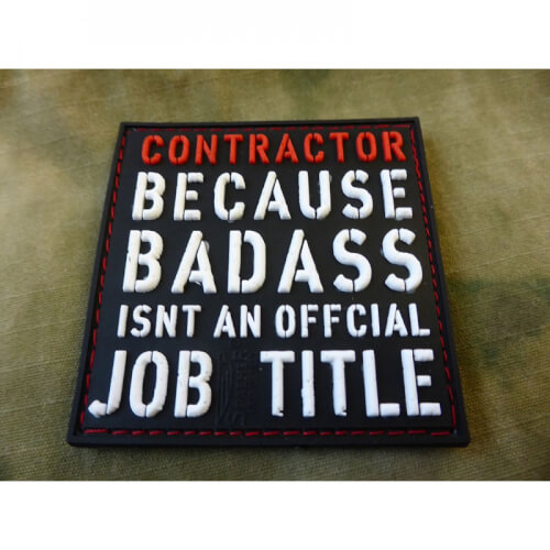 JTG CONTRACTOR Patch, fullcolor / 3D Rubber Patch