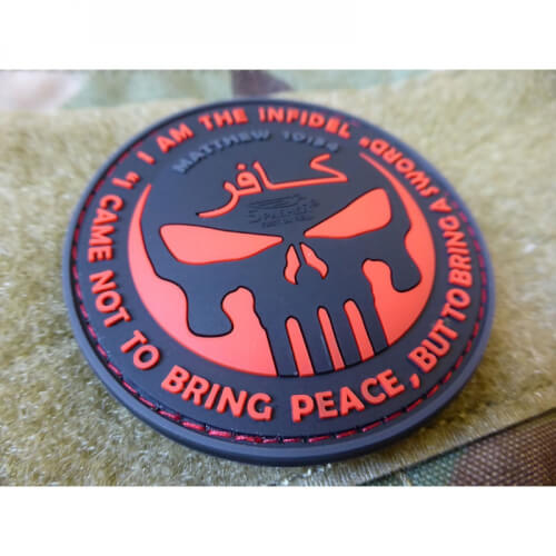 JTG The Infidel Punisher Patch, blackmedic / 3D Rubber Patch