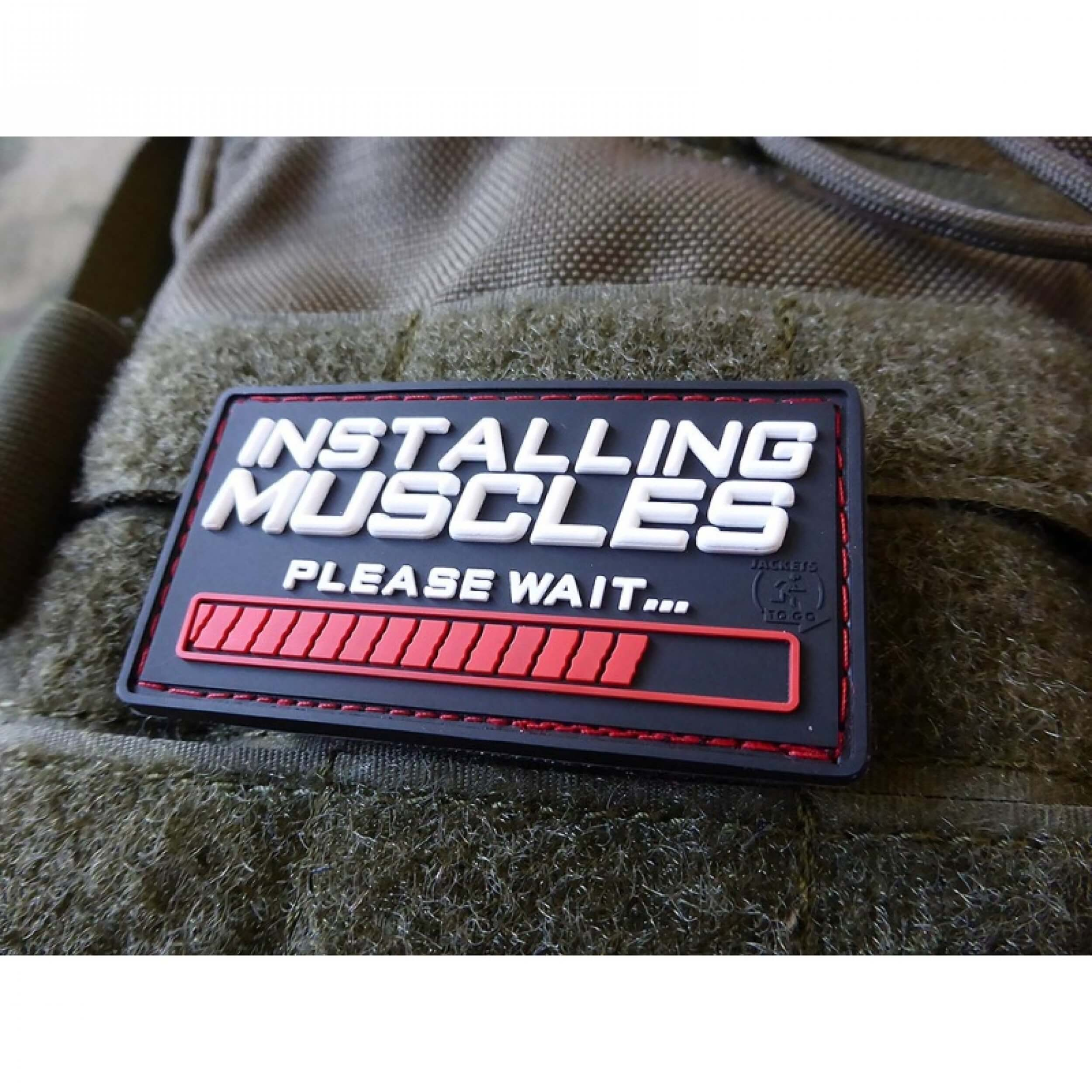 JTG INSTALLING MUSCLES Patch, fullcolor / JTG 3D Rubber Patch