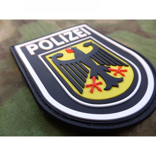 JTG Ärmelabzeichen Bundespolizei - Patch, fullcolor / 3D Rubber Patch