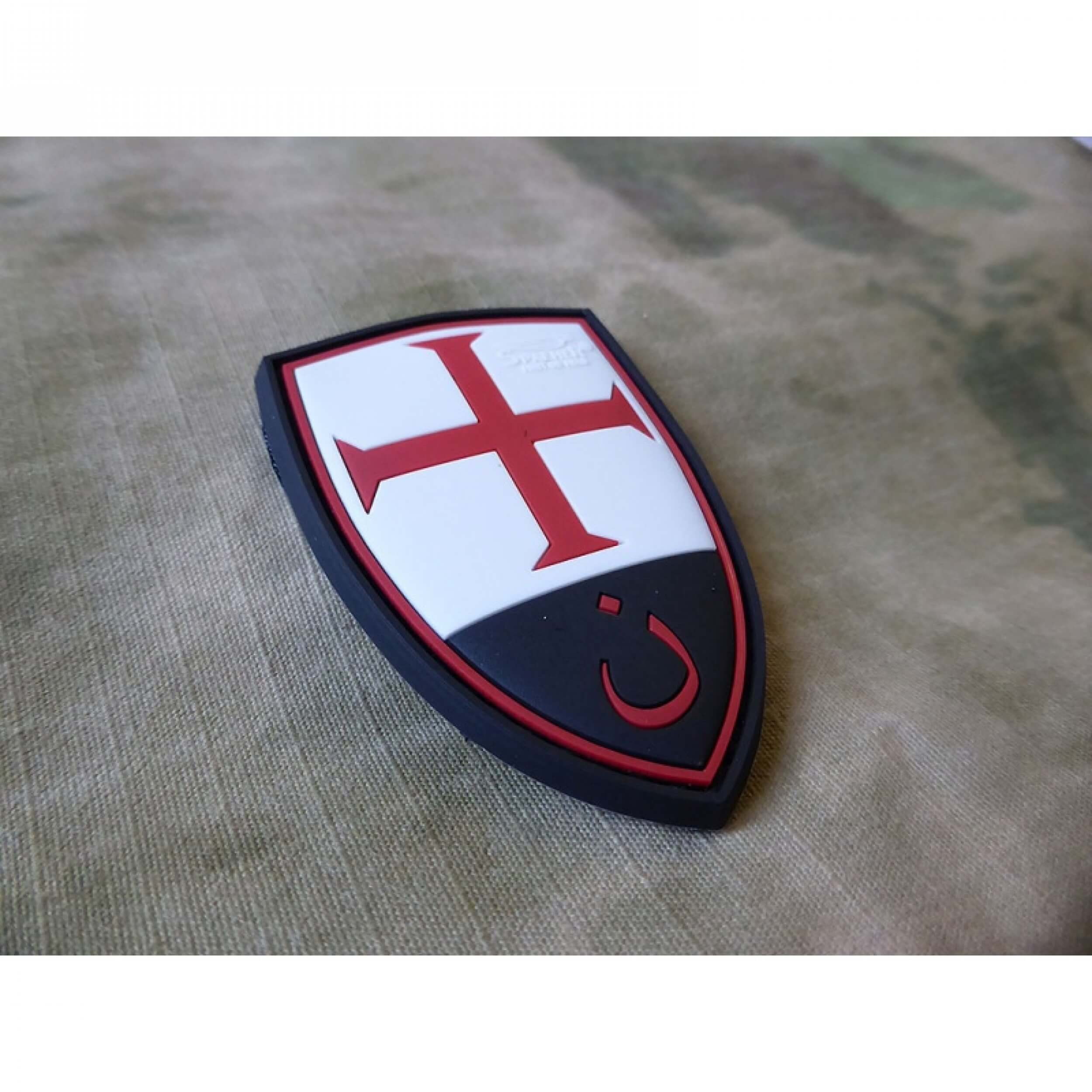 JTG Crusader Shield Patch, fullcolor / 3D Rubber Patch
