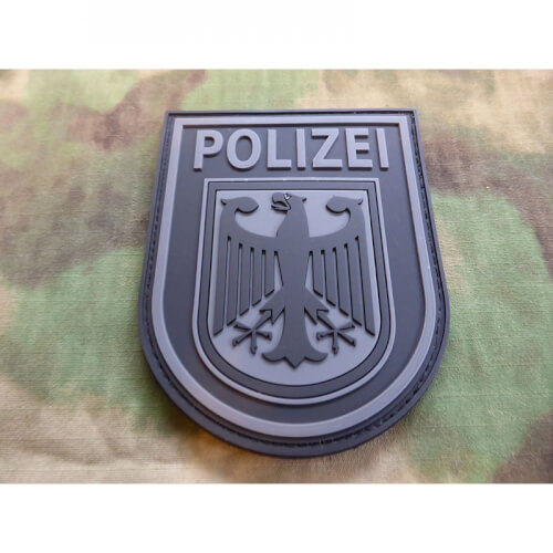 JTG Ärmelabzeichen Bundespolizei, blackops / 3D Patch