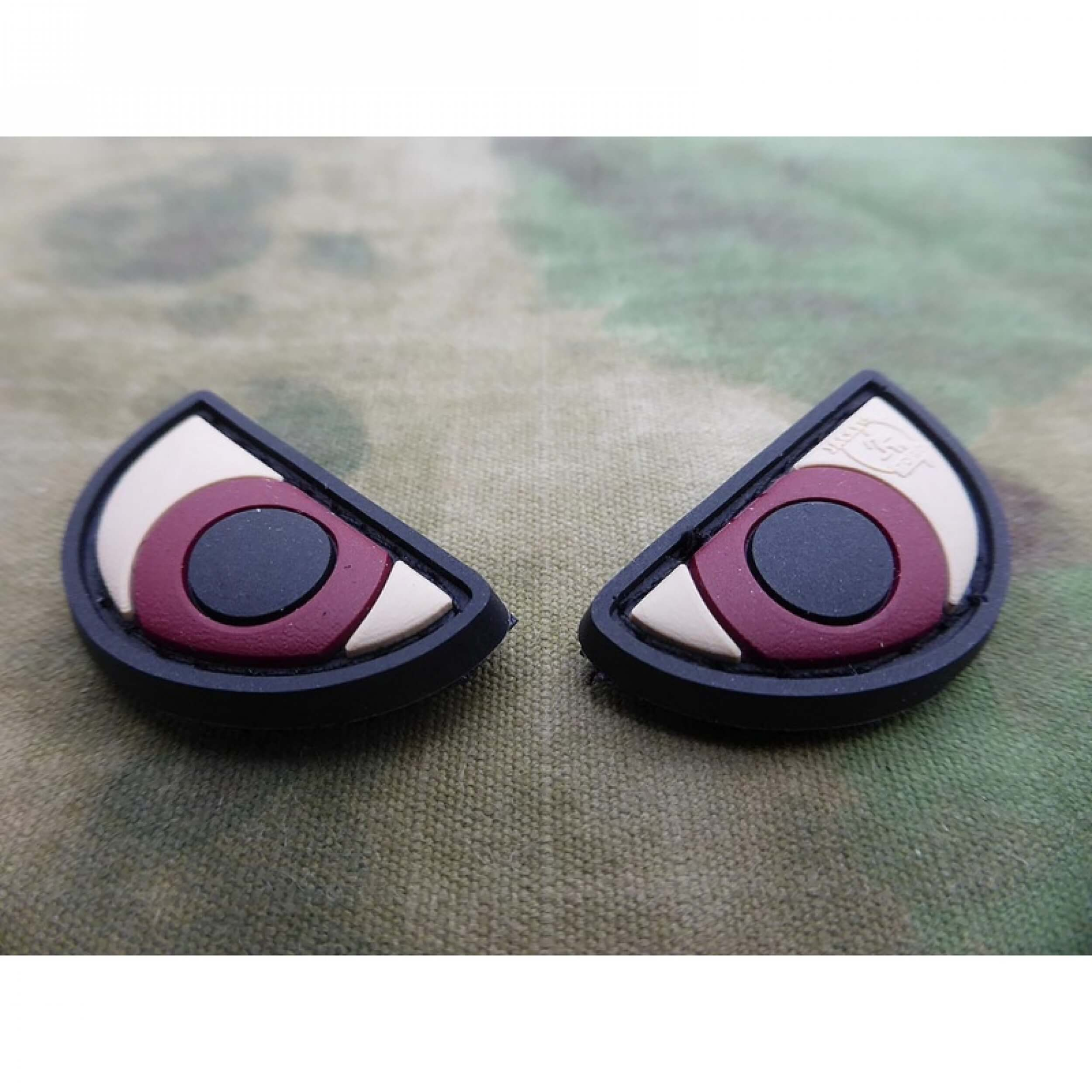 JTG Angry Eyes Patch Set, fullcolor / 3D Rubber Patch