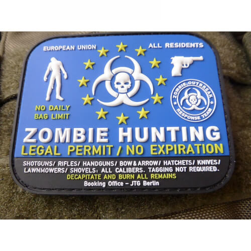 JTG Zombie Hunting Patch 3D Rubber Patch