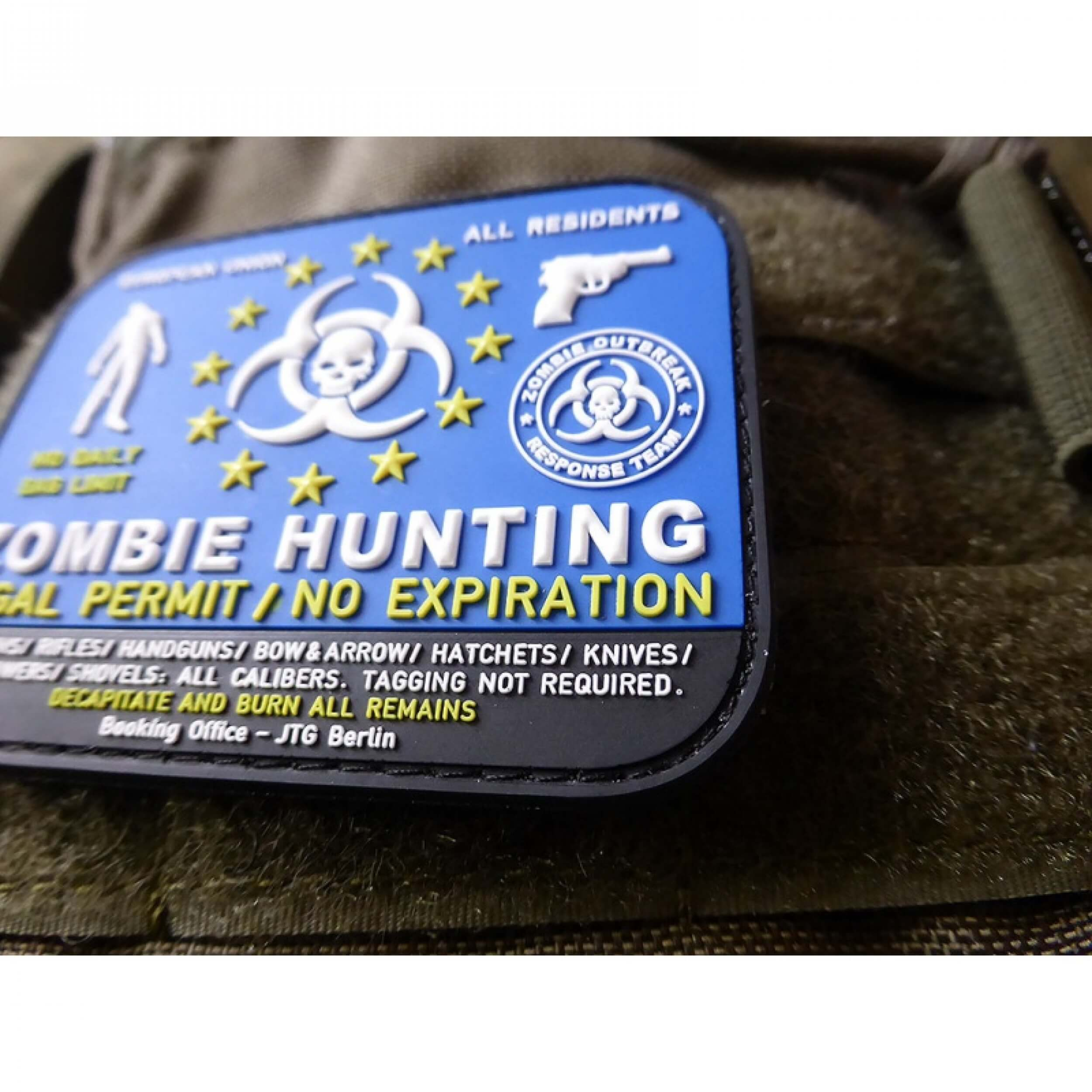 JTG Zombie Hunting Patch 3D Rubber Patch