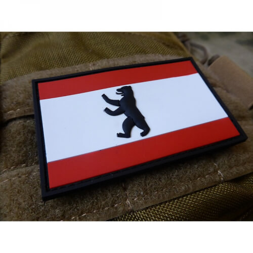 JTG Berlin Flagge Patch, fullcolor / 3D Rubber Patch
