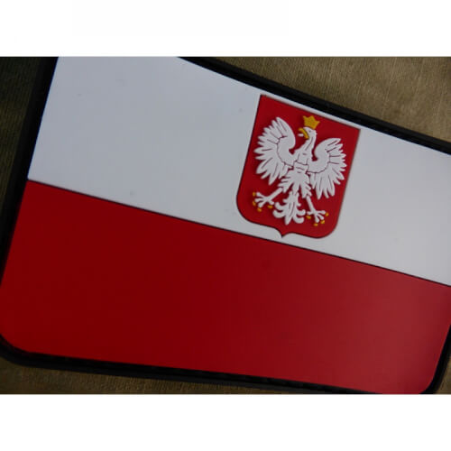 JTG Polnische Flagge mit Adler Patch, fullcolor / 3D Rubber Patch