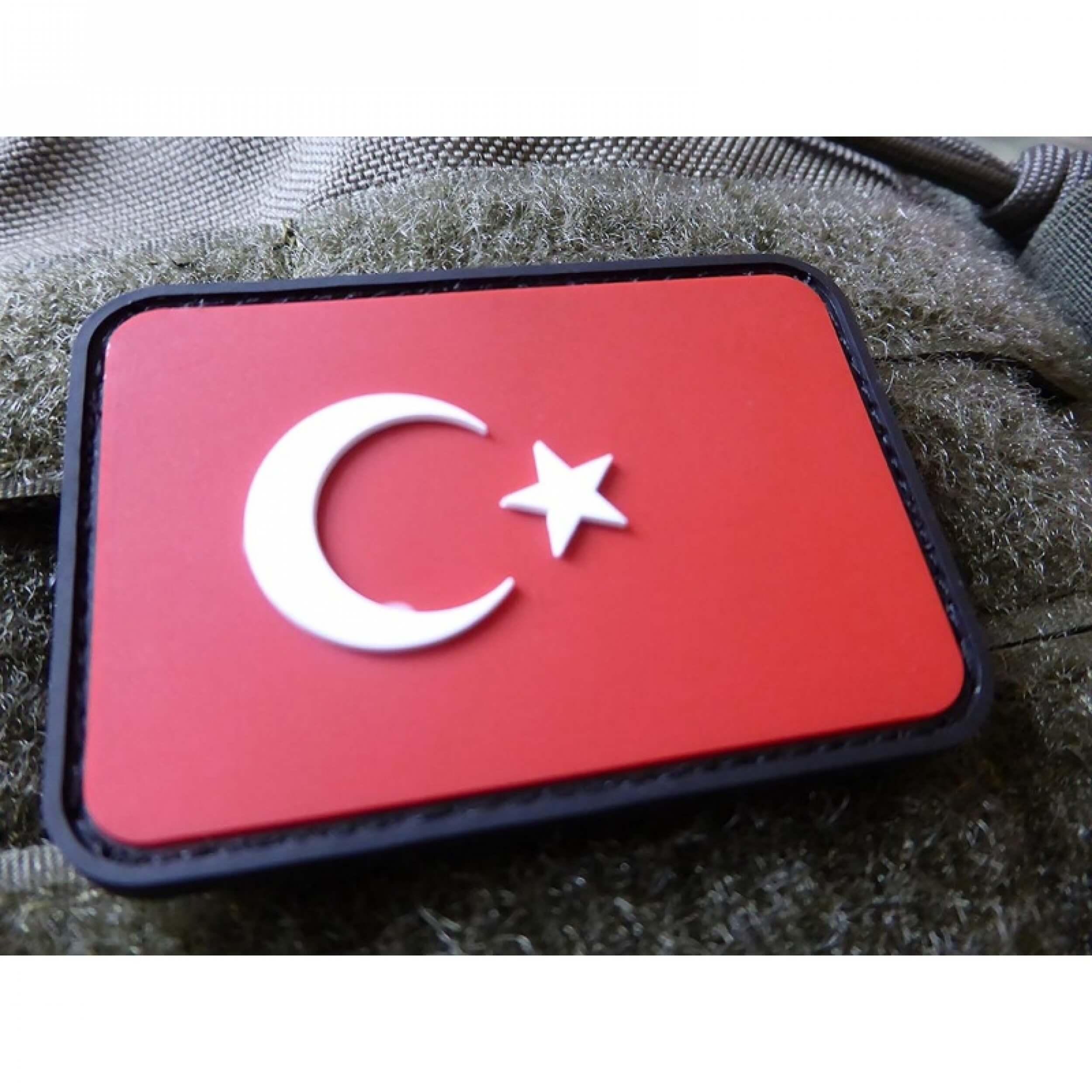JTG Türkische Flagge Patch, fullcolor / 3D Rubber Patch