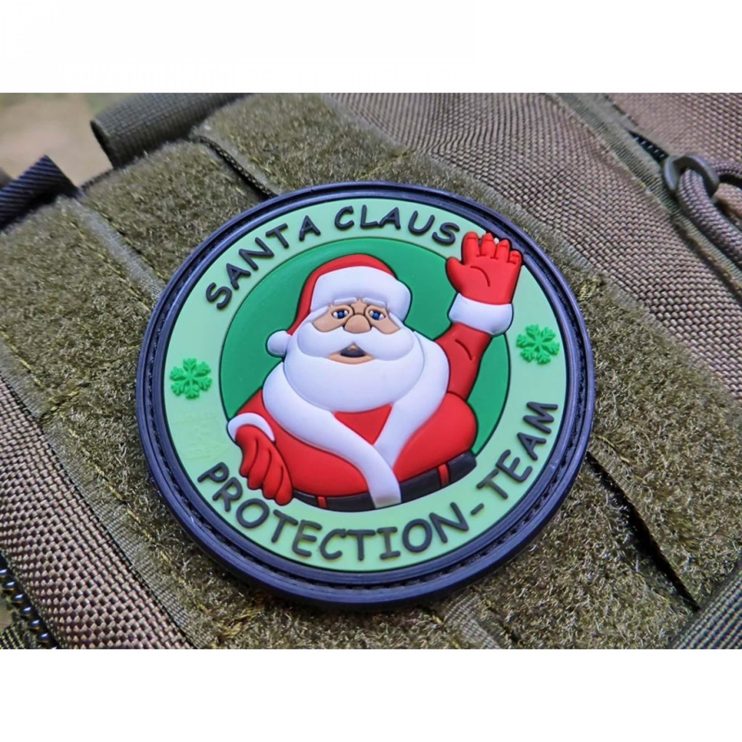 Weihnachtsmann Santa Claus Protection Team tannengrün Patch
