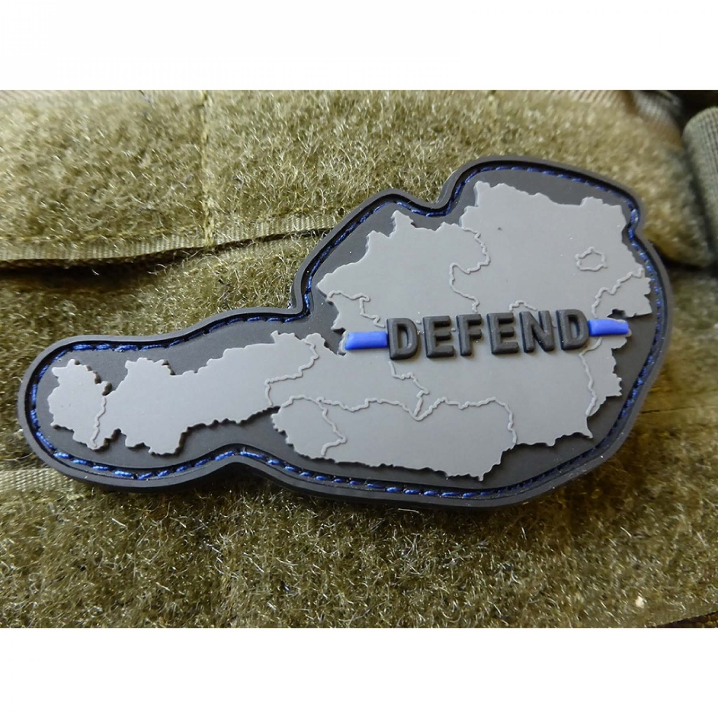 Defend Austria Österreich Patch, Thin Blue Line, Special Edition