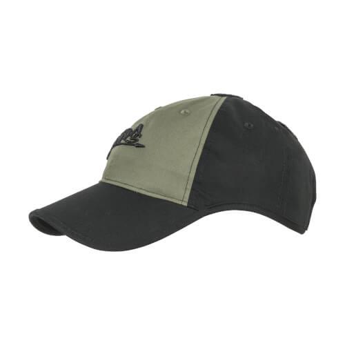 Helikon-Tex Logo Cap -PolyCotton Ripstop- Black / Olive Green B