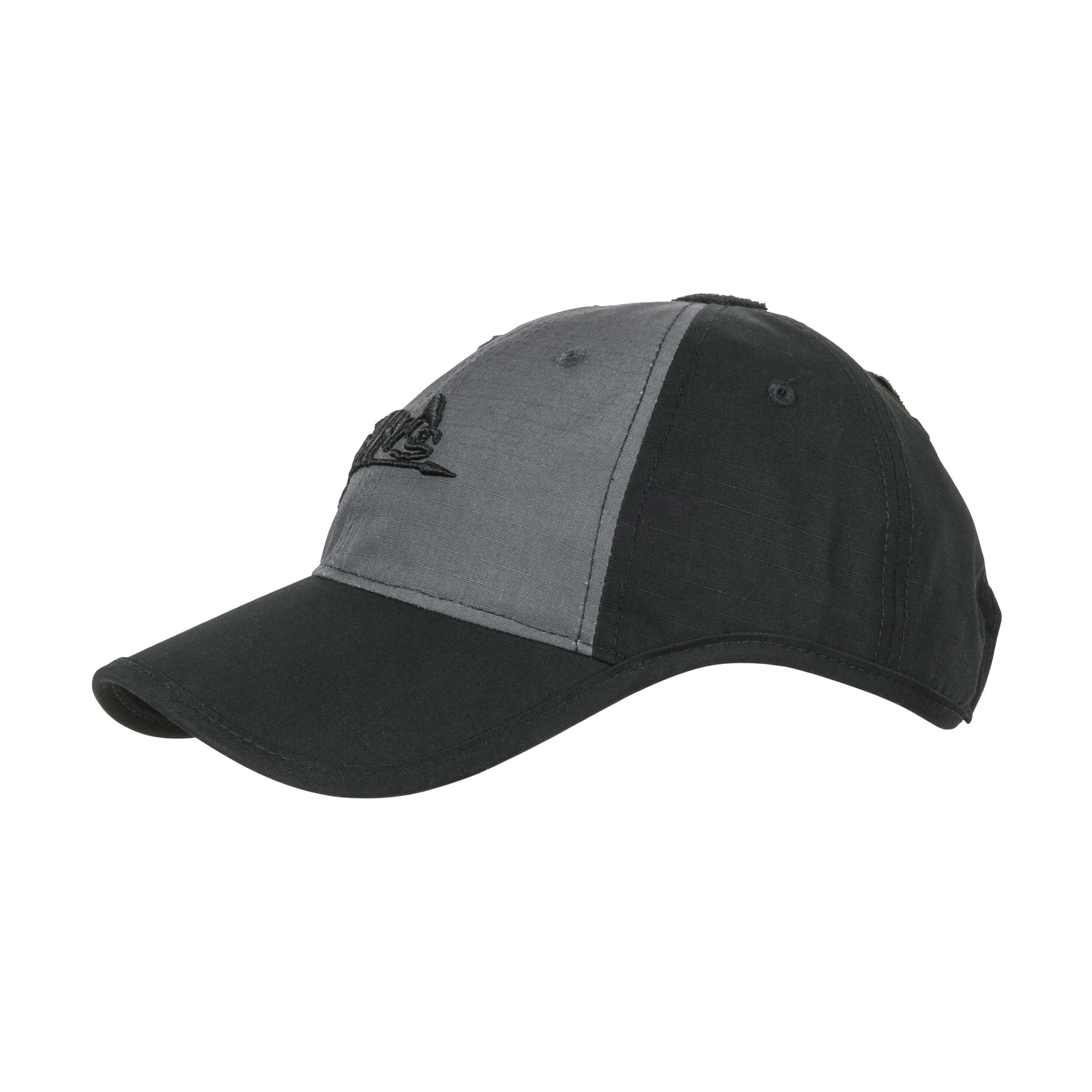 Helikon-Tex Logo Cap -PolyCotton Ripstop- Black / Shadow Grey B