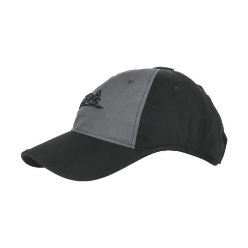 Helikon-Tex Logo Cap -PolyCotton Ripstop- Black / Shadow Grey B
