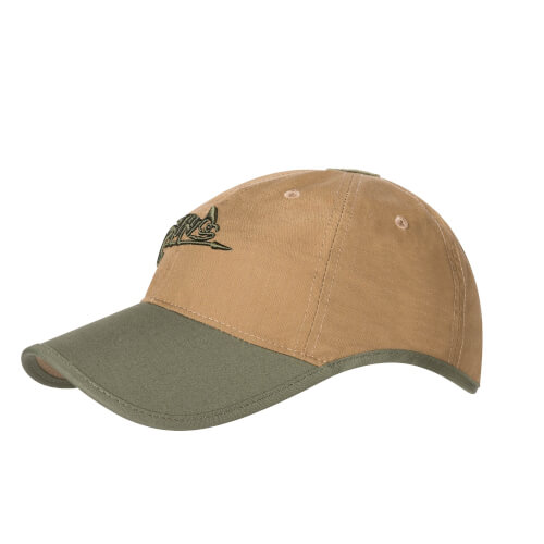 Helikon-Tex Logo Cap -PolyCotton Ripstop- Coyote / Olive Green A