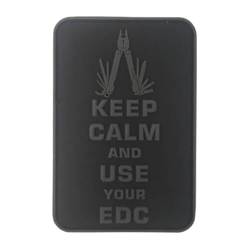 Keep Calm Use Your EDC Multitool Topo 3D Rubber Patch Blackops