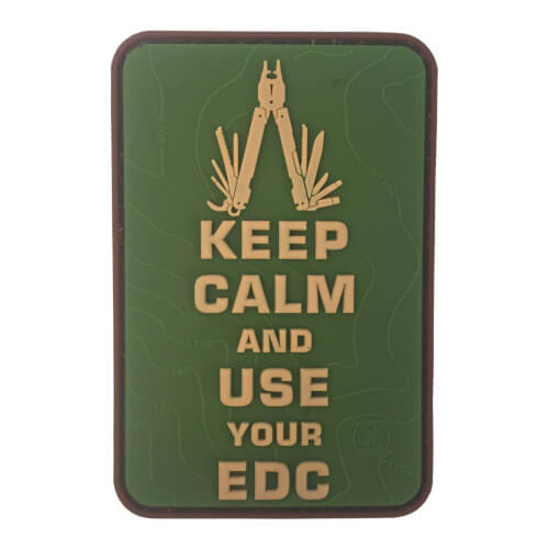 Keep Calm Use Your EDC Multitool Topo 3D Rubber Patch Multicam