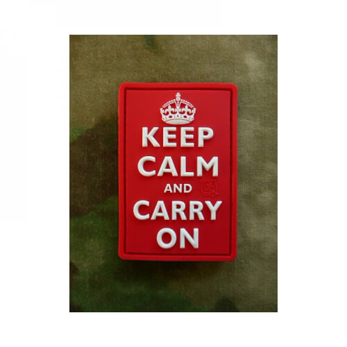 JTG Keep Calm and Carry on Patch, fullcolour