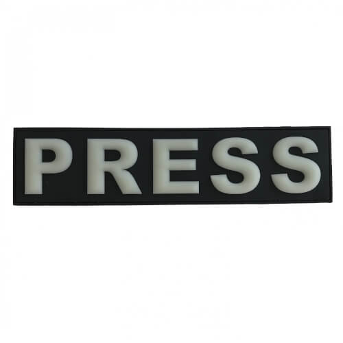 Press Presse Patch 29*7 cm Glow in Dark Nachleutend 3D PVC