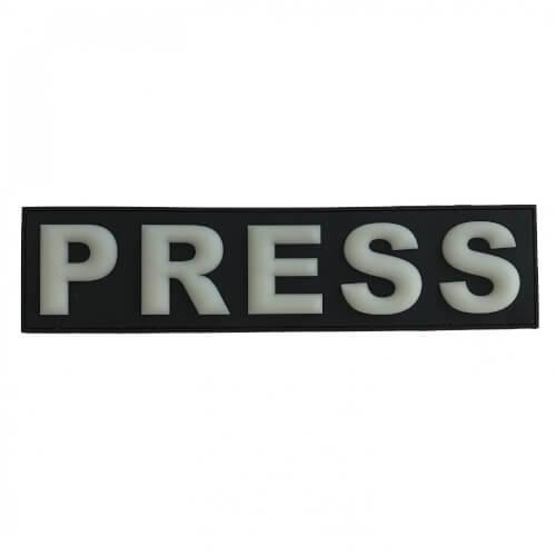 Press Presse Patch 29*7 cm Glow in Dark Nachleutend 3D PVC