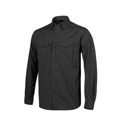 Helikon-Tex Defender Mk2 Long Sleeve Shirt -Polycotton Ripstop- Schwarz