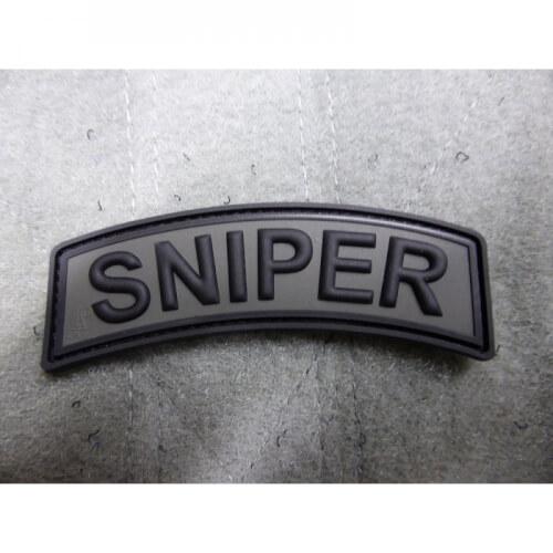 JTG Sniper Tab Patch, battlegrey / 3D Rubber Patch