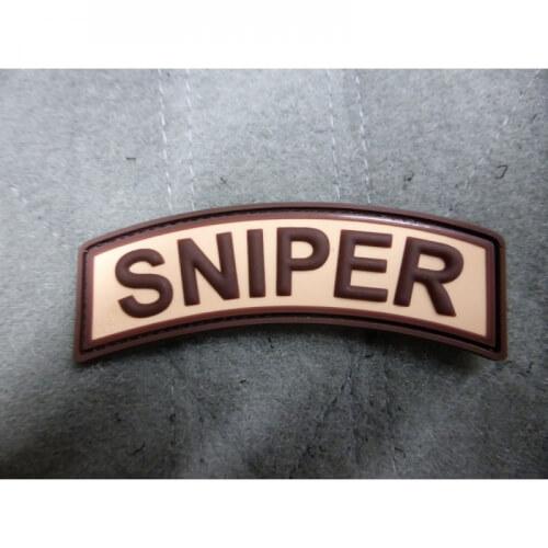 JTG Sniper Tab 3D Rubber Patch - desert