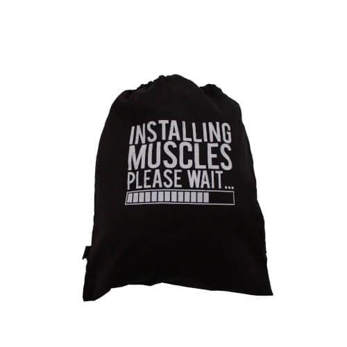 Rucksack Jutebeutel Turnbeutel Hipster Installing Muscles