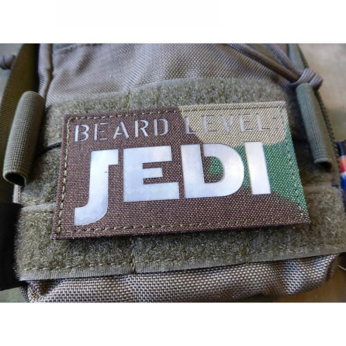 JTG BEARD LEVEL JEDI Prismatic Lasercut Patch, woodland