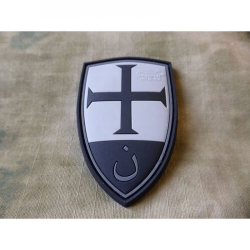 JTG Crusader Shield Patch, blackops / 3D Rubber Patch
