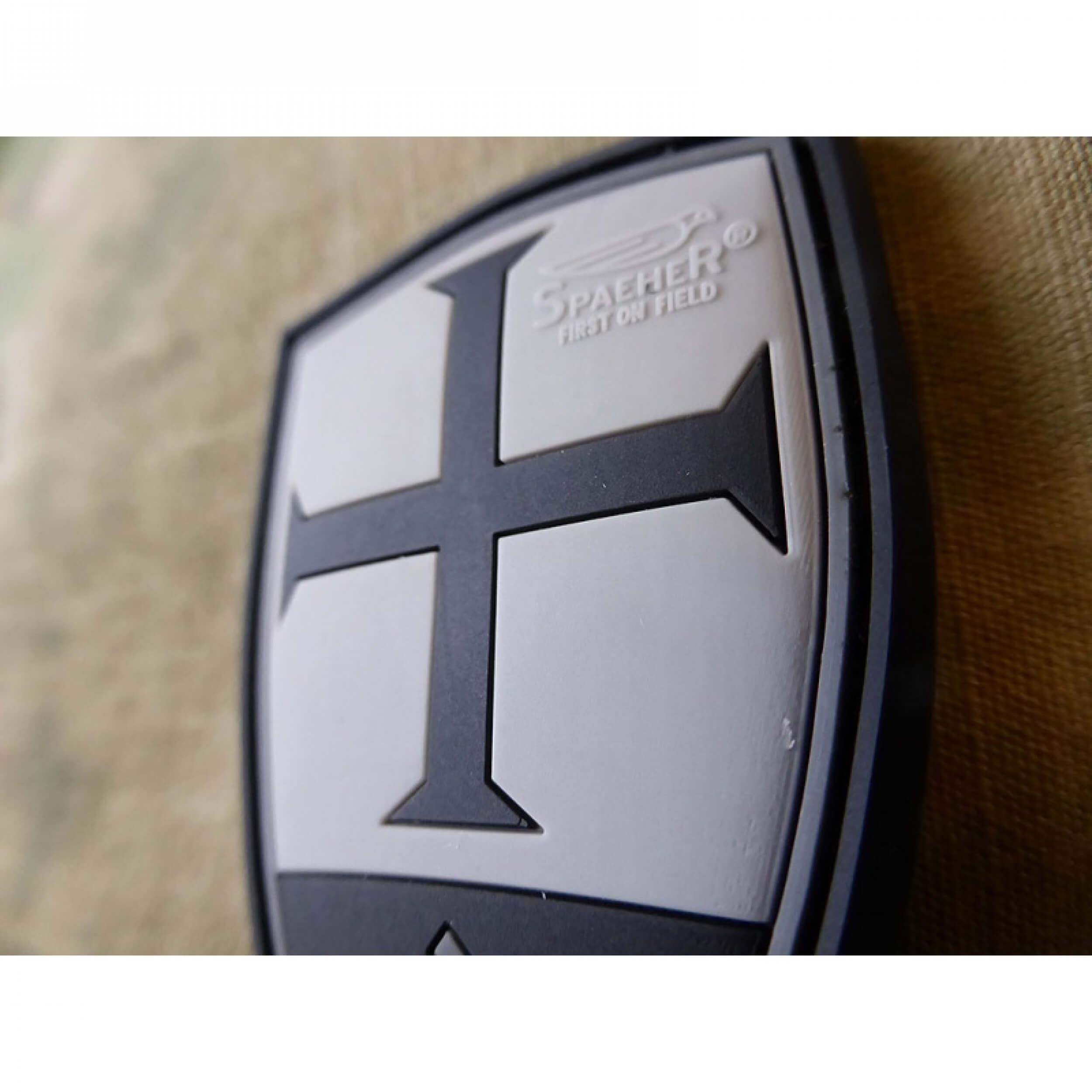 JTG Crusader Shield Patch, blackops / 3D Rubber Patch
