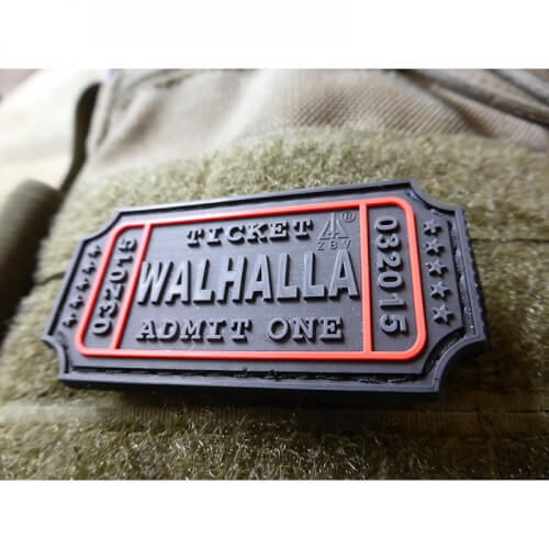 JTG Walhalla Ticket Patch, blackops / 3D Rubber Patch