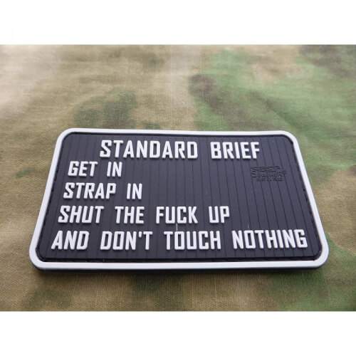 JTG Standard Briefing 3D Rubber Patch, fullcolour