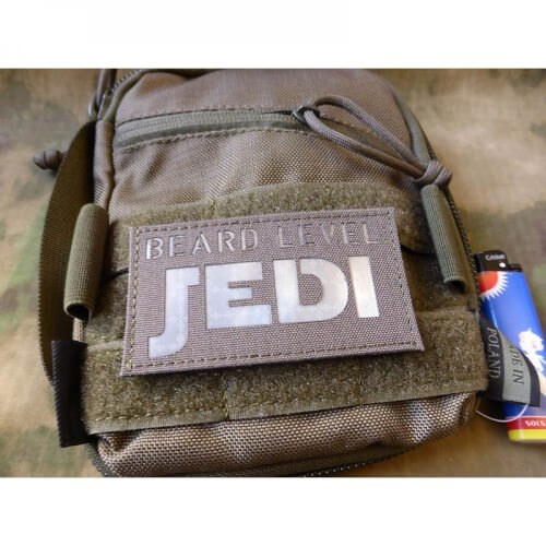 JTG BEARD LEVEL JEDI Prismatic Lasercut Patch, Ranger Green