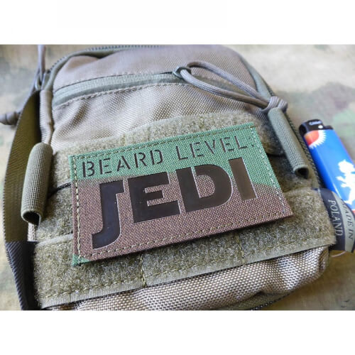 JTG BEARD LEVEL JEDI, woodland / Infrarot Patch, custom made