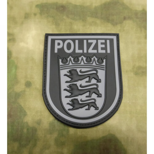 JTG Ärmelabzeichen Polizei Baden-Württemberg - Patch, blackops / 3D Rubber Patch